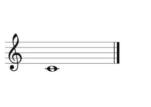 Music Note C4 G-Clef