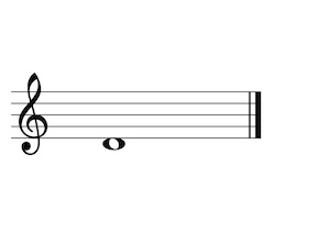 Music Note D4 G-Clef