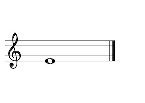 Music Note E4 G-Clef